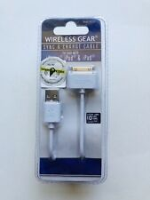 Wireless Gear Sync & Charge Cable for use with iPhone 4,4S, iPod, iPad 10' Cord