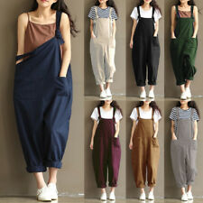 Women Fall Sleeveless Jumpsuit Dungaree Trousers Pants Overalls Playsuit Romper