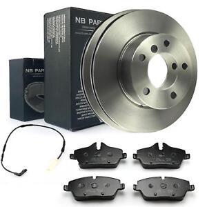Brake Discs 284mm+ Brake Pads+Warning Contact Front BMW 1 E81 E87