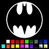 Batman Medallion Decal / Sticker - Choose Color & Size - Bat Signal *