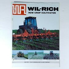 Wil-Rich Row Crop Cultivators Advertising Brochure 1989 Farm Agriculture Tillage