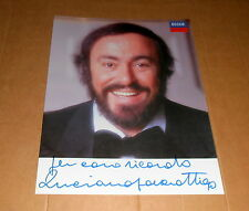 Luciano Pavarotti (+) *Klassik Opera*, original signed Autographcard 20x25 cm