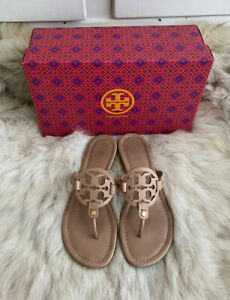Tory Burch Miller Makeup Nude Leather Sandal Size 8.5M