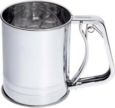 Andrew James Flour Sifter with Trigger Action Handle & Double Mesh Sieve