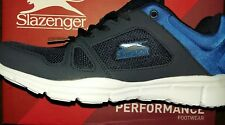NEW Slazenger Mesh Running Shoes Mens 9 Navy/Blue Trainers memory foam insole