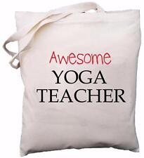 Awesome Yoga Teacher - Natural Cotton Shoulder Bag - School Gift