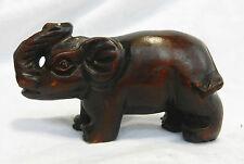 Vintage / Antique Carved Wooden Japanese Netsuke - Elephant