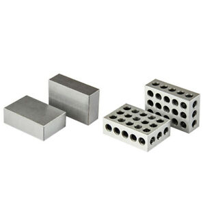 All Industrial 1 Matched Pair 1-2-3 Block Set No Hole & 1-2-3 Block Set 23 Holes
