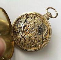 Antique 14k Gold Pocket watch W.J. Tobias & Co Liverpool museum Mint Condition
