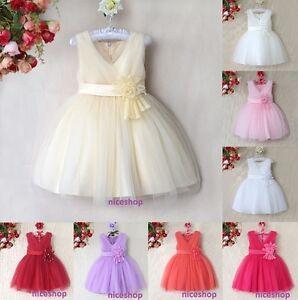 GIRLS FLOWER/Formal/Bridesmaid/Party/Princess/Prom/Wedding/Christening Dress