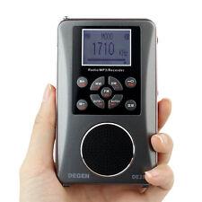 Portable FM/MW/SW Radio Full-Band Receiver Audio MP3 Player Alarm Clock Recorder