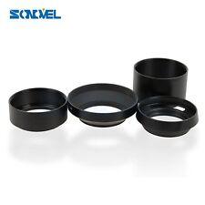 52mm Standard/Telephoto/Wide Angle/Vented Curved Metal Lens Hood Kit Set 4pcs
