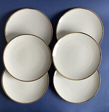 """More details for thomas germany china thick gold band white 9 1/4"""" breakfast / lunch plates x6"""