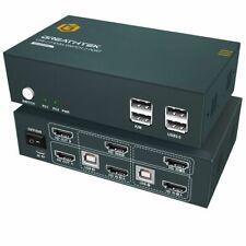 More details for hdmi 2.0 kvm switch dual monitor 2 port 4k, 4k @ 60hz, usb 2.0, 2 pc 2 monitor