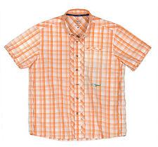 TrueFlies Bokeelia Seersucker Fishing Performance Shirt Hibiscus Medium Orange