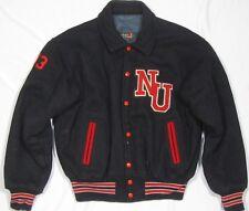 NORTHEASTERN UNIVERSITY ~ Vintage Marching Band Letter Jacket ~ Men's 46 - Black