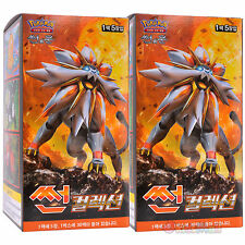 Pokemon Cards TCG SUN & MOON Collection Solgaleo-GX Booster 2 Display Box Korean