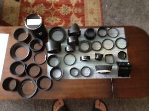 JOBLOT of vintage camera hoods,rings,30 plus