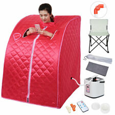 Portable Personal Therapeutic Steam Sauna SPA Slim Detox Weight Loss Home Red