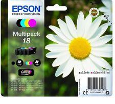 Genuine unused original Epson 18 Daisy multipack 4 ink cartridges