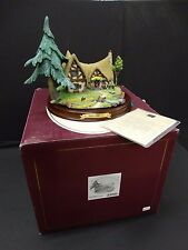 WDCC Enchanted Places ~ SNOW WHITE AND THE SEVEN DWARFS COTTAGE ~ MIB COA