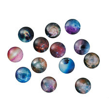 25mm (1 inch) - 10 pcs. Circle Galaxy Round Glass Dome Seals Tiles Cabochons