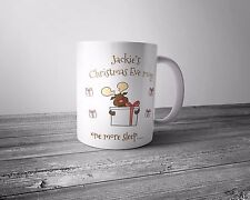 Personalised Christmas Eve mug - 'one more sleep ...'