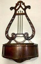 Vintage Ferguson Mahogany Planter copper tub wall hanging Shelf violin 1930-1940