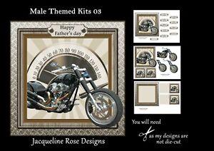 Male Themed Kits 03 Decoupage 3 x A4 Sheet Not Die-Cut