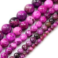 "Natural Gemstones Sugilite Round Loose Beads 15"" 4mm 6mm 8mm 10mm 12mm Craft"