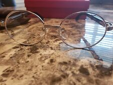 Cartier Wooden And silver glasses frames
