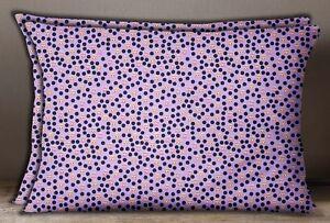 S4Sassy Polka Dot Print Cotton Poplin Lavender 2 Pcs Home Decorative Pillow Sham