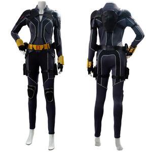2020 Black Widow Natasha Romanoff Cosplay Costume Jumpsuit Halloween Outfit
