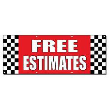 FREE ESTIMATES Auto Body Shop Car Repair Banner Sign 2 ft x 4 ft /w 4 Grommets