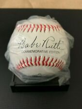 Babe Ruth 100th Anniversary Commemorative Baseball and Cooperstown Col. Card Set