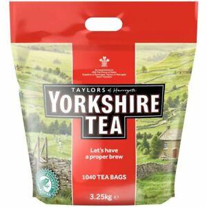 Taylors of Harrogate Yorkshire Tea 1040 Tea Bags - 3Kg