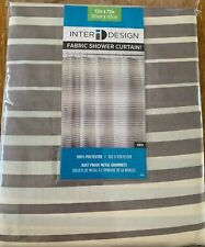Shower Curtain, Taupe & Natural Polyester, 72 x 72-In.