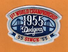 LOS ANGELES DODGERS ANNIV BROOKLYN 1955 1ST WORLD CHAMPIONSHIP JERSEY PATCH