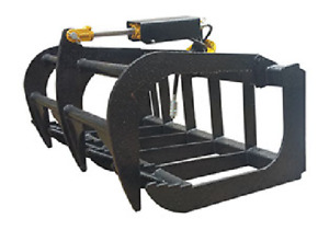 "NEW USA 48"",4' SKID STEER LOADER,COMPACT TRACTOR light weight GRAPPLE ROOT RAKE"