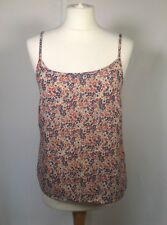 New Look Floral Blue Red Spaghetti Strap Light Summer Holiday Vest Top 12 Beach