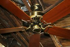 Restored Casablanca Panama 5 Ceiling Fan Inteli-Touch Antique Brass Made in USA!
