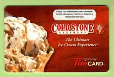 TIM HORTONS ( Canada ) Cold Stone Creamery ( Eng ) 2011 Gift Card ( $0 )