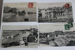 CPA PORNICHET Plage Bains Animation Carte postale Ancienne Début XXe Post Card