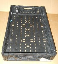 """Plastic Stacking Crates Lugs Bins Baskets Folding Collapsible #5, 5"""""""