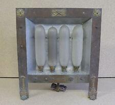 Rare radiateur à 4 lampes chauffantes PAZ et SILVA, début XXème siècle