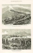 1877 Antique Print - RUSSO TURKISH WAR CAVALRY RETREAT SEVIN RUSE RUSTCHUK (212)