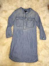 NWT J Crew Drapey Chambray Shirtdress Denim Dress Size XXS B9841 $98