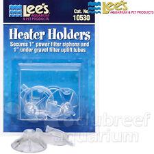 Heater Holder/Mount Suction Cups Pair 10530 2 Clips Lee's Aquarium