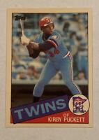 1985 TOPPS TIFFANY *Rare* KIRBY PUCKETT ROOKIE CARD - Minnesota Twins HOF