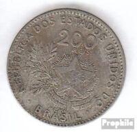 Brasilien KM-Nr. : 504 1901 sehr schön Kupfer-Nickel 1901 200 Reis Liberte